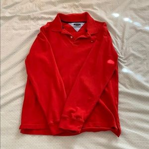 Tommy Hilfiger Bright Red Rugby Shirt (EUC)